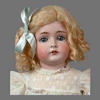 "Kestner 129 Antique Bisque Child Girl Doll in White 19"""