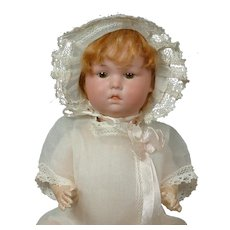"""Adorable Rare 11"""" Pouty Character Baby by Armand Marseilles for George Borgfeldt"""