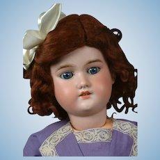 "George Borgfeldt Antique Bisque Child Doll in Purple 24"""