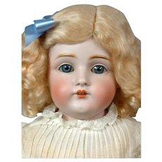 """Kestner 154 DEP Antique Bisque Doll Kidskin Child Doll 22"""""""