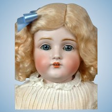 Kestner 154 DEP Antique Bisque Doll Kidskin Child Doll 22""
