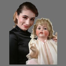 """Life-Sized Kestner 257 Character Baby Antique Doll 26"""""""