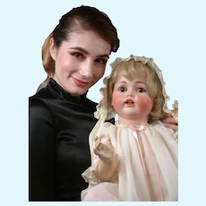 Life-Sized Kestner 257 Character Baby Antique Doll 26""