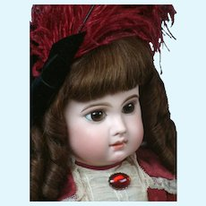 "25.5"" Enchanting EJ (E 12 J) Bebe By Emile Jumeau With Penetrating Paperweight Eyes Circa 1882"