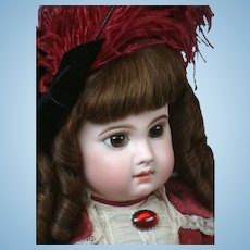 """25.5"""" Enchanting EJ (E 12 J) Bebe By Emile Jumeau With Penetrating Paperweight Eyes Circa 1882"""