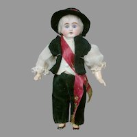 "Charming 8.5"" German Boy in Original Costume"