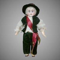 "Charming 8.5"" German Boy in Original Costume"