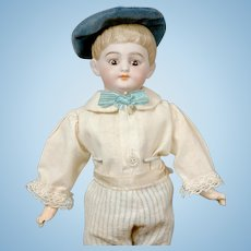"""Charming 12"""" American Schoolboy with Socket Head in Antique Costume"""