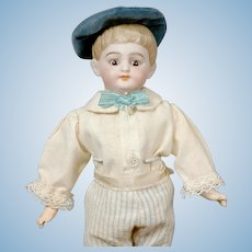 "Charming 12"" American Schoolboy with Socket Head in Antique Costume"