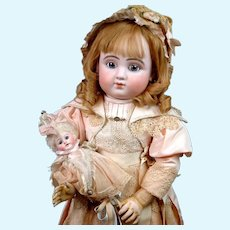 """29"""" Series C Bourgoin Steiner French Bebe With Blue Lever Eyes"""