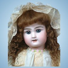 """24"""" Charming French Bebe by Rabery & Delphieu circa 1890 in Silk Dress"""