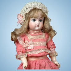"""17"""" Rare All Antique Bebe With Square Cut Teeth & Early Kestner Body -- Fabulous Condition & Presentation! WoW!"""