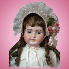 """DEP Tete Jumeau Antique Bisque Doll 32"""""""