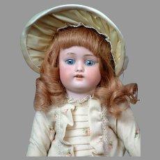 "Kestner 168 Antique Bisque Character Doll in Frock Dress 13.5"""