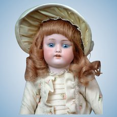 Kestner 168 Antique Bisque Character Doll in Frock Dress 13.5""