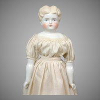 "Charming 17"" Blond China Lady in White Dress"
