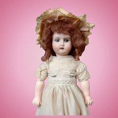 """Sweet 13"""" Goebel Girl in Green Lacy Dress"""