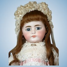 "Stunning 20"" Rare Simon & Halbig Closed-Mouth 719 Child in Original Costume and wig"