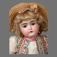 Kestner 152 Antique Child Doll in Adorable All Original Costume 17.5""