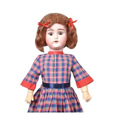 """Darling 21"""" Schuetzmeister & Quendt """"My Sweetheart"""" in Colorful Plaid Dress"""