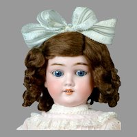 "Adorable 22"" Kley & Hahn ""Walkure"" Doll in Sweet Pink Dress"