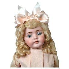 "Rare Large 25"" Antique Kestner 143 Character Doll in antique Schoolgirl Dress!"