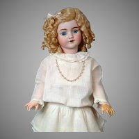 "Lovely 23"" Simon & Halbig ""Santa"" in Original White Dress"