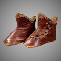 Lovely Antique French Keystone High Button Boots