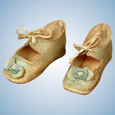 Lovely Pale Blue Heeled Shoes for Your German Bebes