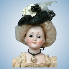 "Diminutive  10"" Kestner ""Gibson Girl"" with Original Wig & Hat!"