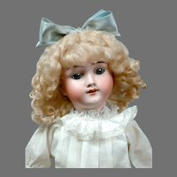 "Angelic 20"" Max Handwerck Blond Girl in Antique White Dress"