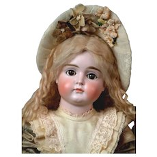 "19"" Wonderful Pouty Faced Closed-Mouth Kestner Bebe --Fabulous Presentation! WoW!"