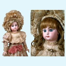 """Rare and Incredibly Beautiful 25"""" Paris Bebe by Jumeau with Eiffel Tower stamped Body"""