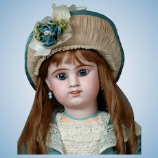 "Remarkable Large 29"" Etienne Denamur French Bebe Circa 1889 E13D with Rare Smiling Expression"