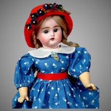 "Sweet 11"" Bahr & Proschild Antique Doll in Sweet Blue Dress"