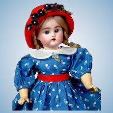"Sweet 11"" Bahr & Proschild Antique Doll in Sweet Blue Dress"