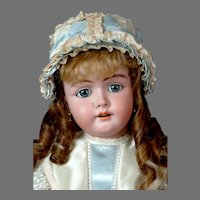 "Stunning 24.5"" German Doll with Original Wig and High Quality Fully Jointed Compo Body!"