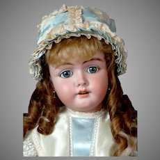 """Stunning 24.5"""" German Doll with Original Wig and High Quality Fully Jointed Compo Body!"""