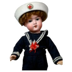"Adorable 11"" Schoenau & Hoffmeister Sailor Boy"