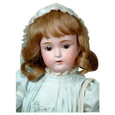 """Darling 15.5"""" Kestner 171 in Sweet Blue Dress"""