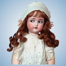 "Darling 23"" Kammer & Reinhardt/ Simon & Halbig Flirty Antique Doll in Sweet All Antique Costume!"