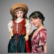 "Super Rare-Super Chunky-Super Tall-- 40"" Simon & Halbig 939 Antique Doll in Original Regional Costume--Just WoW!!!"