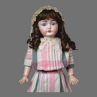 "24"" Darling Kestner 146 Beautiful Antique Doll in Original dress and antique wig--So Lovely!"