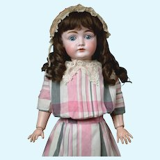 "24"" Darling Kestner 146 Beautiful Antique Doll in Original dress and antique wig--So Lovely!"