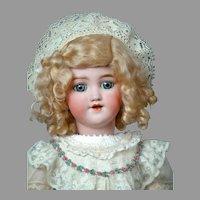 "21""  Lovely Simon & Halbig ""Santa"" in Stunning Silk & Lace Dress"