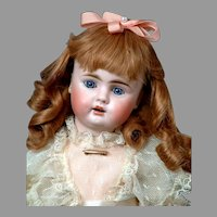 "Petite 14"" Rare 248 Bahr & Proschild With Cute Dimples & Frilly Party Dress"