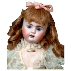 """Petite 14"""" Rare 248 Bahr & Proschild With Cute Dimples & Frilly Party Dress"""
