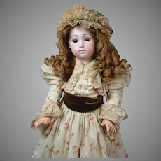 "Stunning 24"" French Long-Face Jumeau ""Bebe Triste"" by Carrier-Belleuse size 11"