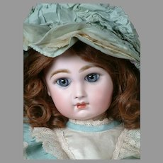 """Stunningly Beautiful 19"""" Closed-Mouth Tete Jumeau with Antique Wig"""