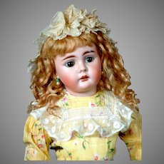 """19.5"""" Bahr & Proschild 225 Character Child Antique Doll circa 1898 With 2 Rows of Teeth!"""